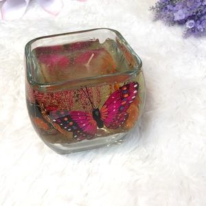 Butterfly Garden Decorative Gel Candle Home Decor